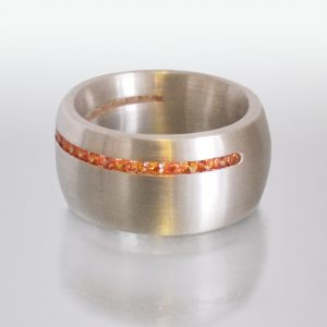 Ring Silber Saphire
